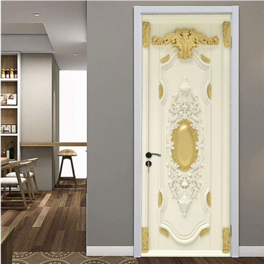 Pegatinas de puerta de madera retro PVC papel pintado impermeable para puertas sala de estar dormitorio decoración del hogar mural DIY renovación calcomanía-K_2.95 pies * 6.56 pies: Amazon.es: Bricolaje y herramientas
