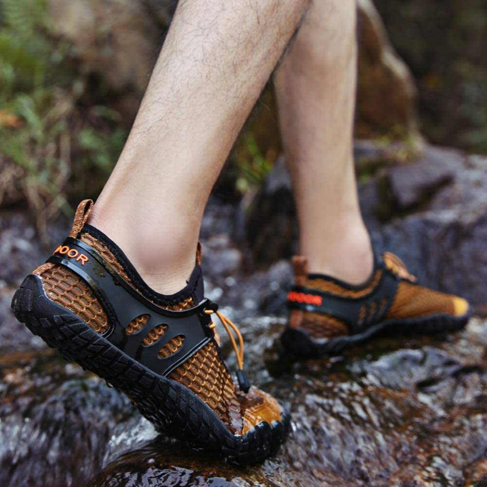 YUHUAWYH Mens Womens Water Shoes Quick Dry Barefoot Aqua Shoes for Water Sports Fishing Beach Hiking Outdoor Exercise