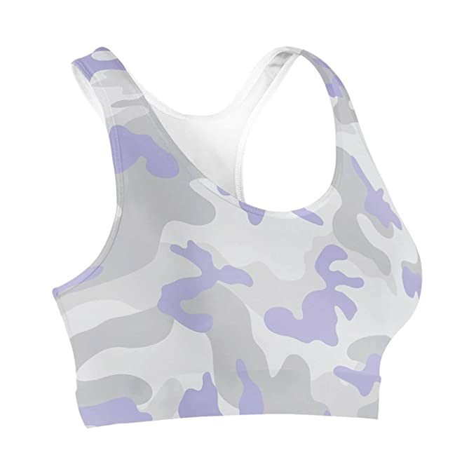 Camuflaje pastel lila sujetador deportivo