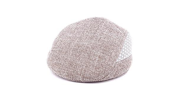 Casquillo De Primavera Y Verano De Los Hombres Con Una Tapa Neta A Plazo  Sombreros De Mediana Edad Boinas 0288061c293
