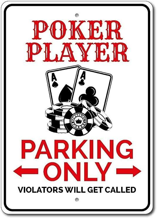 HNNT Cartel de póquer para decoración de la habitación del póquer ...