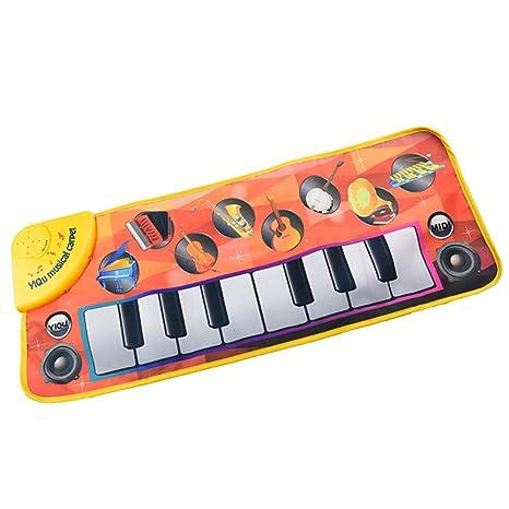 Yanchad Alfombra de Música Alfombra de Piano Alfombra de Teclado Táctil Musical Alfombrillas Musicales Alfombra de