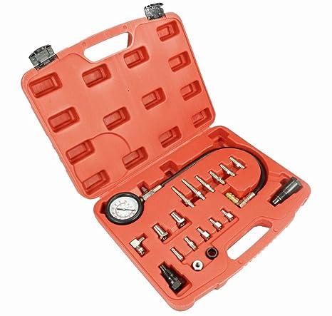 Comprobador de compresión para motores diésel, 20 piezas) en maletín de herramientas
