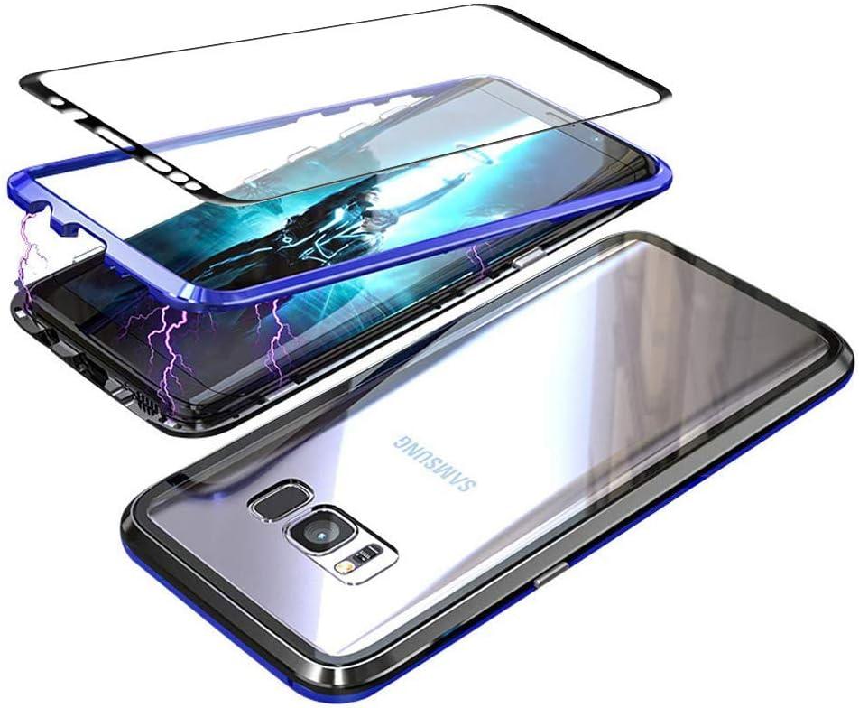 Gypsophilaa Funda Samsung Galaxy S8 Plus, Magnetic Adsorption Technology Marco de Metal Templado de Nuevo Case, Slim Fit Ultra Carcasa de Peso Ligero, para Samsung Galaxy S8 Plus Cover Case: Amazon.es: Electrónica