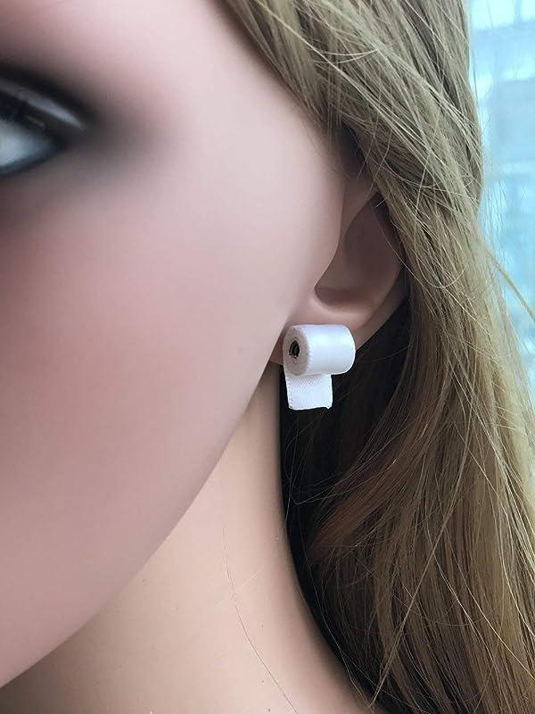 Papier Handtuch Ohrringe Lustige Acryl Spaß Toiletten Papier Ohrringe Rohr A7L4