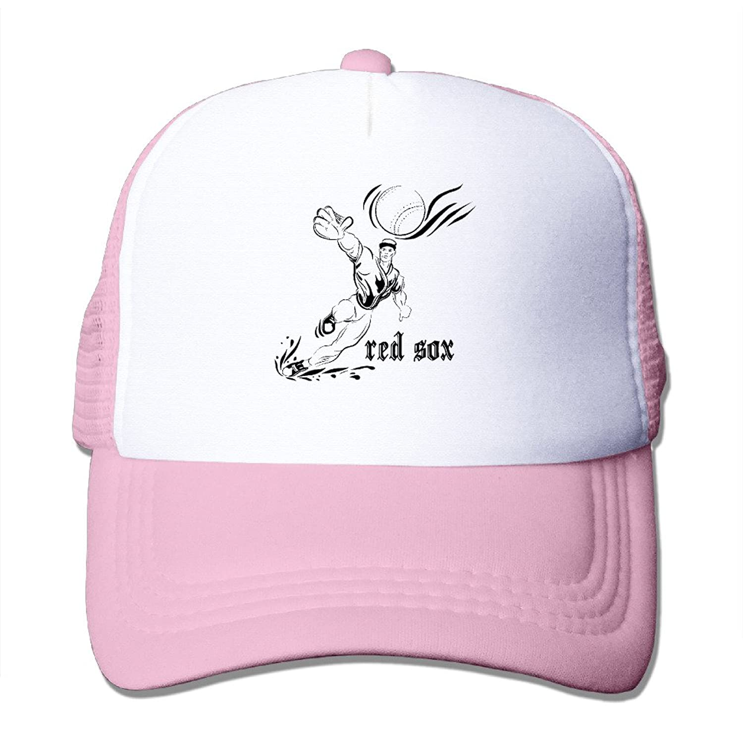 Funny Sayings Red Sox Adult Nylon Adjustable Mesh Hat Plain Hat Pink One Size Fits Most