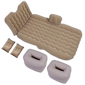 Colchón inflable de viaje en automóvil con dos almohadas ...