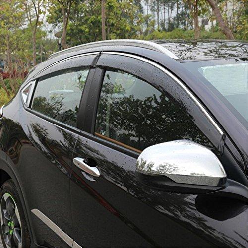 Vesul Updated Side Window Visor Rain Sun Deflectors Guard Vent Shade Fits on Honda HR-V HRV 2014 2015 2016 2017 2018 2019 from Vesul