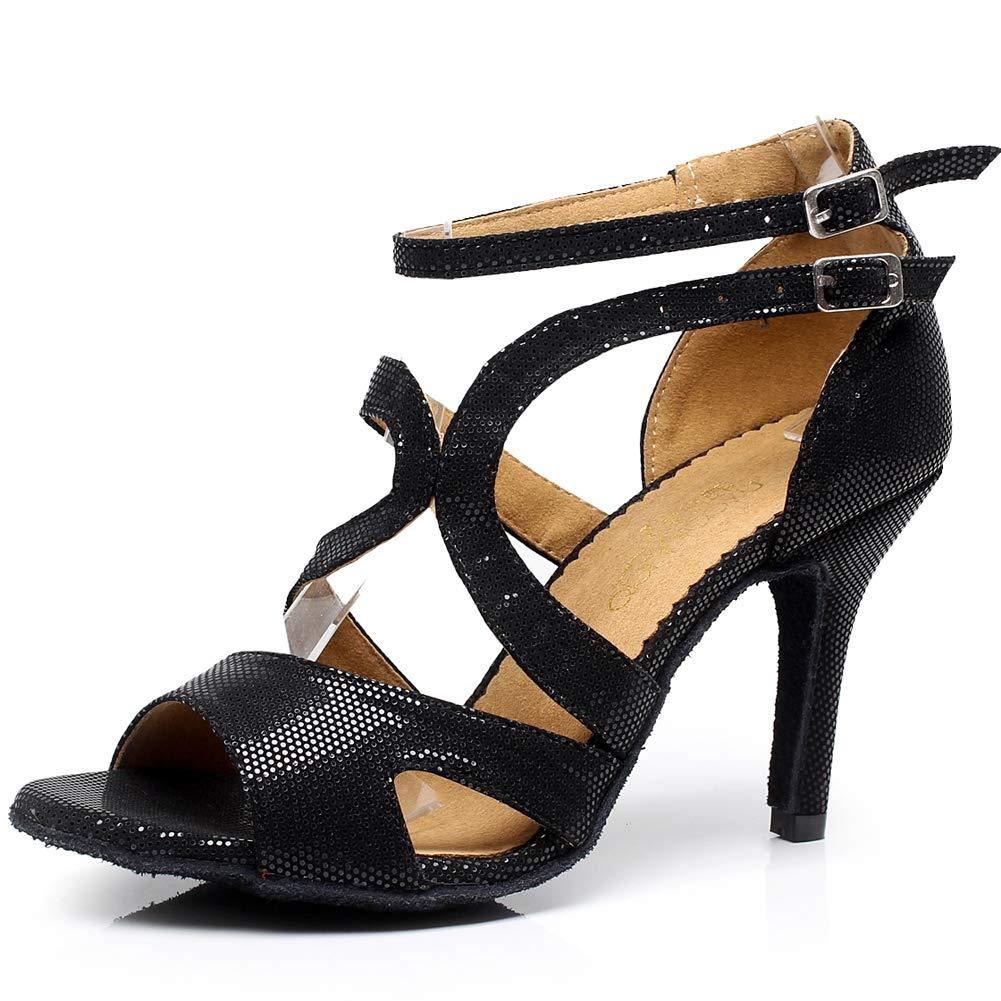 JRYYUE PU Ballsaal Frauen Lateinische Tanzschuhe Zehen Offen Peep Toe High Heel 8.5CM  | Hochwertige Produkte  | Spielen Sie auf der ganzen Welt und verhindern Sie, dass Ihre Kinder einsam sind  | Ausreichende Versorgung