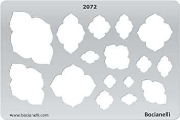 Plastic Stencil Template for Graphical Design Drawing Drafting Jewellery Making - Mehadi Frames Sky Cloud