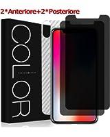 Pellicola iPhone X, [2 Pezzi] G-Color Pellicola Vetro Temperato iPhone X / iPhone 10 [Protegge la Privacy] Senza Bolle [con Posteriore] Pellicola Protettiva per iPhone X / iPhone 10-(Garanzia a vita)