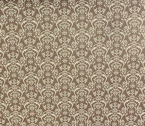 Melody Jane Dollhouse Regency Cream Urn on Brown Miniature Print Wallpaper