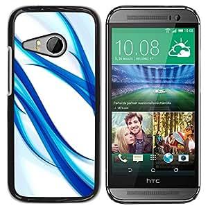 Planetar® ( Blue Aqua Water White Glass Spring White ) HTC ONE MINI 2 / M8 MINI Fundas Cover Cubre Hard Case Cover