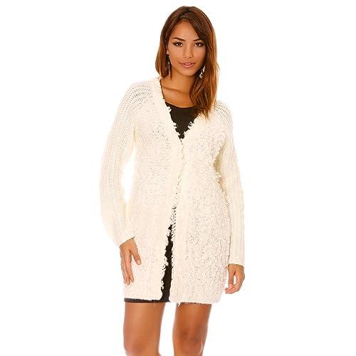 Miss Wear Line - Cárdigan - para mujer blanco S