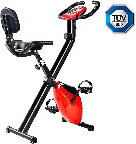 merax® Plegable bicicleta estática ergómetro Home trainer F de ...