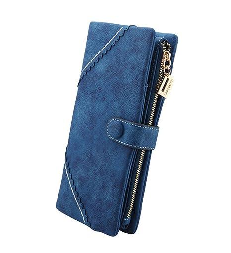 85a468aa1dcb6 DNFC Geldbörse Damen Portemonnaie Lang Portmonee Elegant Clutch Große  Kapazität Handtasche Geldbeutel PU Leder Geldtasche mit