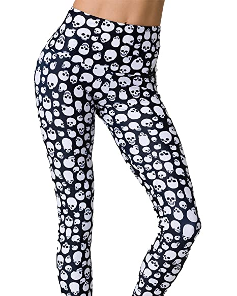 Onzie Hot Yoga High Rise Legging 228 Skull at Amazon Womens ...