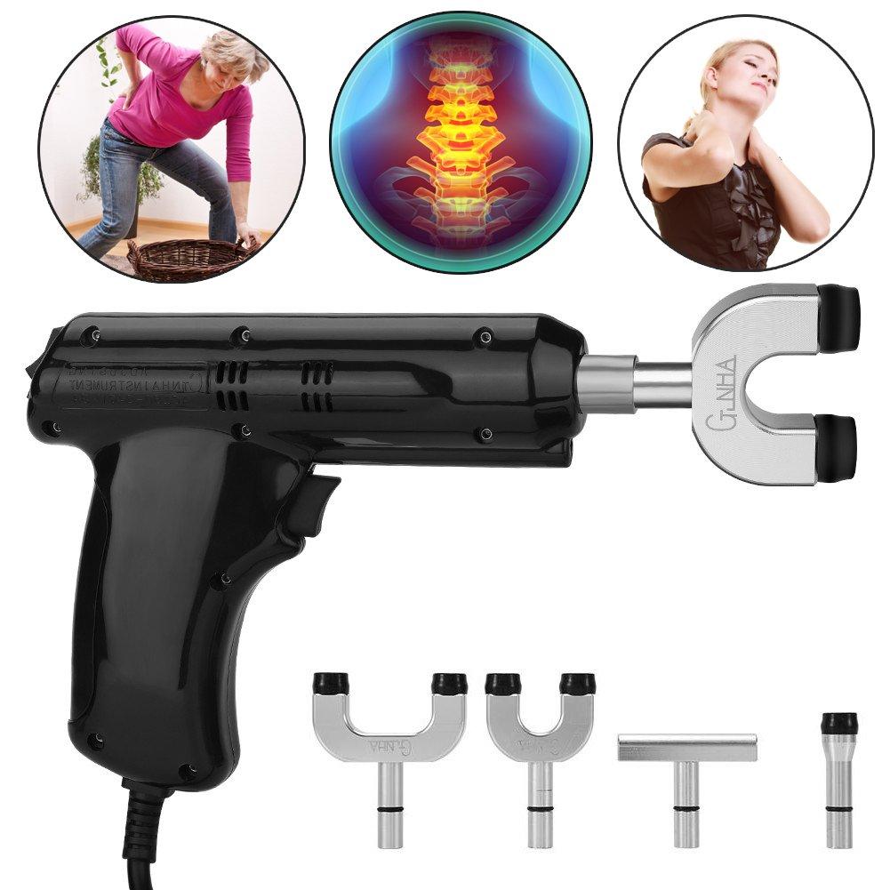 電動カイロプラクター、カイロプラクター、背骨と胸郭を調整するための身体緩和ツール、黒 B07DJ6Y9DR