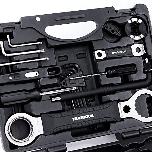 IRONARM Best Value Professional Bicycle Tool Kit Professional Tool Kit. Good Bicycle Repair Tools, Wrench, Chain, Spanner, Allen Key Set and more. by IRONARM (Image #3)