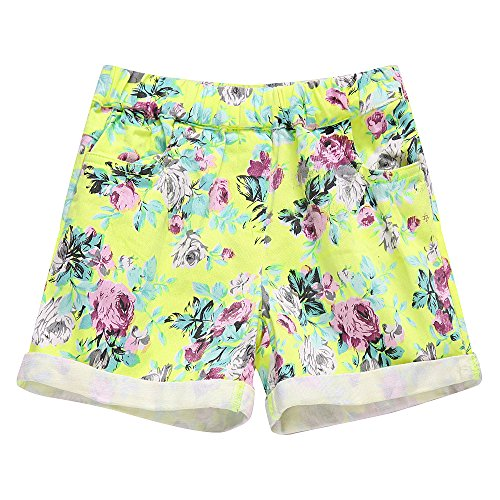 Richie House Little girl's Shorts with All over Floral Print RH1002-C-5/6 by Richie House