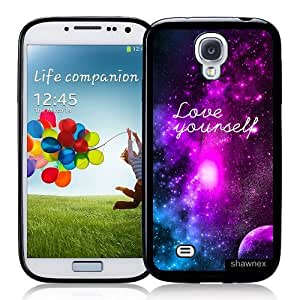 Cool Painting Galaxy S4 Case - S IV Case - Shawnex Love Yourself Galaxy Hipster Quote Samsung Galaxy i9500 Case Snap On Case
