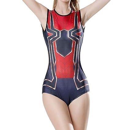 QQWE Iron Spiderman Cosplay Traje de baño de una Pieza ...