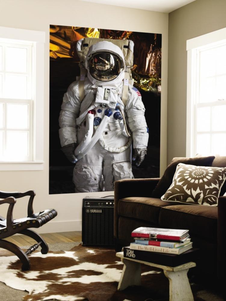 Astronaut Moonwalk Suit at the U.S. Space & Rocket Center, Huntsville, Alabama, USA Wall Mural by Walter Bibikow 48 x 72in