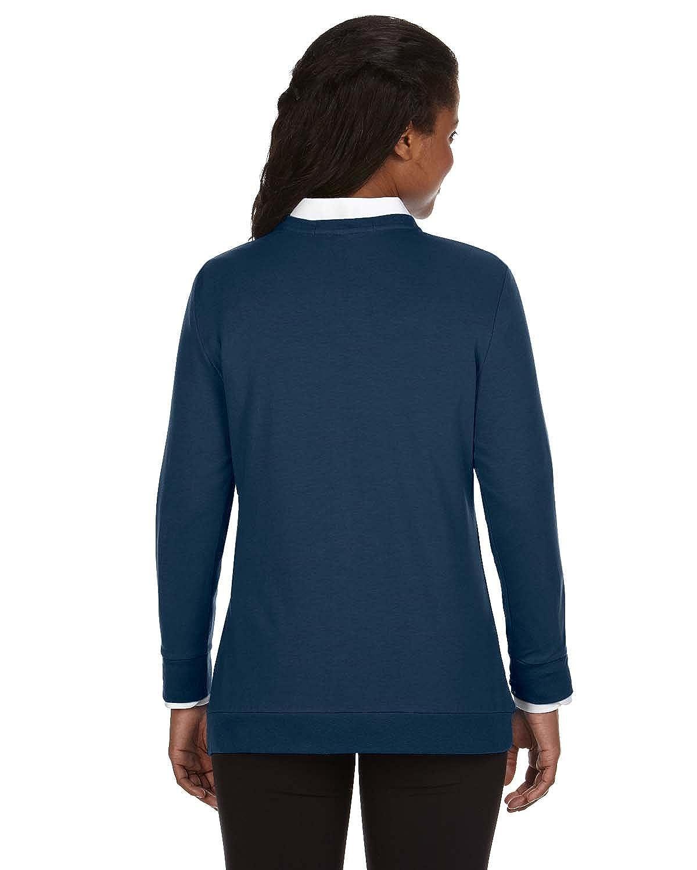 2XL Devon /& Jones Ladies Perfect Fit Ribbon Cardigan NAVY