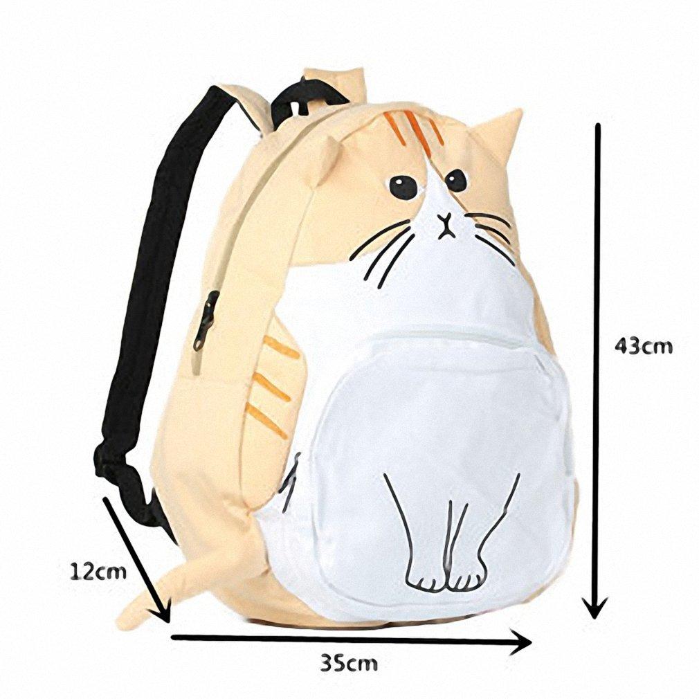 Amazon.com   sac a dos Ears Cute Cat Japan Women Backpacks for Teenage Girl School Bag Mochila Gato Animal Print Fashion Canvas Bagpack 435 Beige   Kids ...