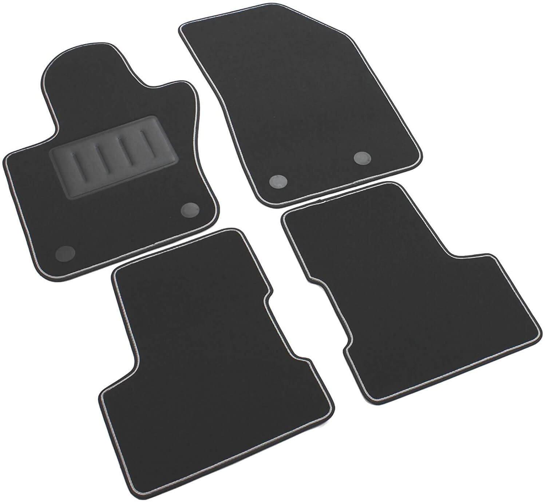 con borde bicolor SPRINT03800 antideslizantes color negro Il Tappeto Auto Alfombrillas de moqueta para coche talonera reforzada con goma