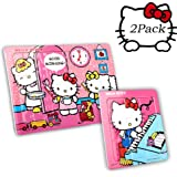 b58ab2495 60 Pieces of Hello Kitty Puzzles - 9 Pieces of Jigsaw Puzzles for Children  and Girls