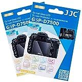 2 Packs JJC 0.01'' Glass Screen Protector for Nikon D7500 DSLR Digital Camera, includes Shoulder Screen / Sub-screen PET Film Protector