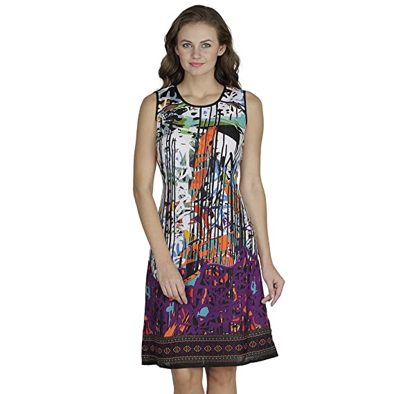 f4a71788776 SVT ADA COLLECTIONS Cotton Multi Color Printed Very Cool n Comfortable  Dress (005811 Purple Medium)  Amazon.in  Clothing   Accessories