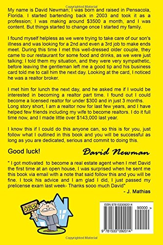 Part Time Real Estate Agent StartUp: How I went From Bartending to be a  Successful Realtor: David Newman: 9781533092014: Amazon.com: Books