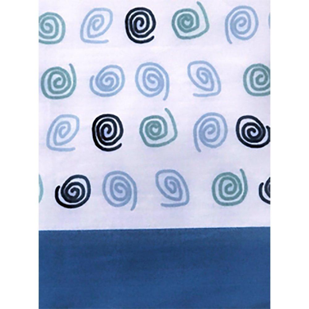 DAGOSTINO Home - Juego de Sabanas para Cama de 90, Diseño Kilia Azul, Composicion, 50% Poliester/50% Algodón, Compuesto por Funda de Almohada, ...