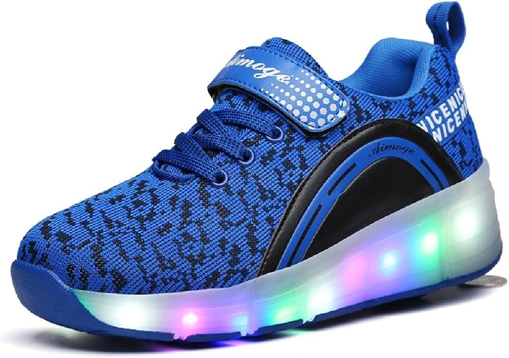 Novel Harp Unisex Boys Girls LED Lighting Single Wheel//Double Wheels Roller Skate Sneakers