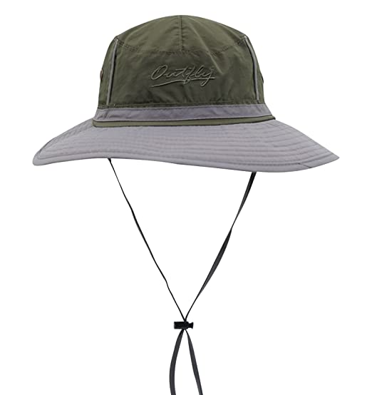 Connectyle Outdoor Boonie Fishing Bucket Hat Summer Colorblock Sun Hats UV  Protection Hiking Hunting Cap d41a12ebf11