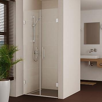 duschtr duschabtrennung dusche duschwand nische nischentr rahmenlos 7075808590 - Dusche Nischentur 85 Cm