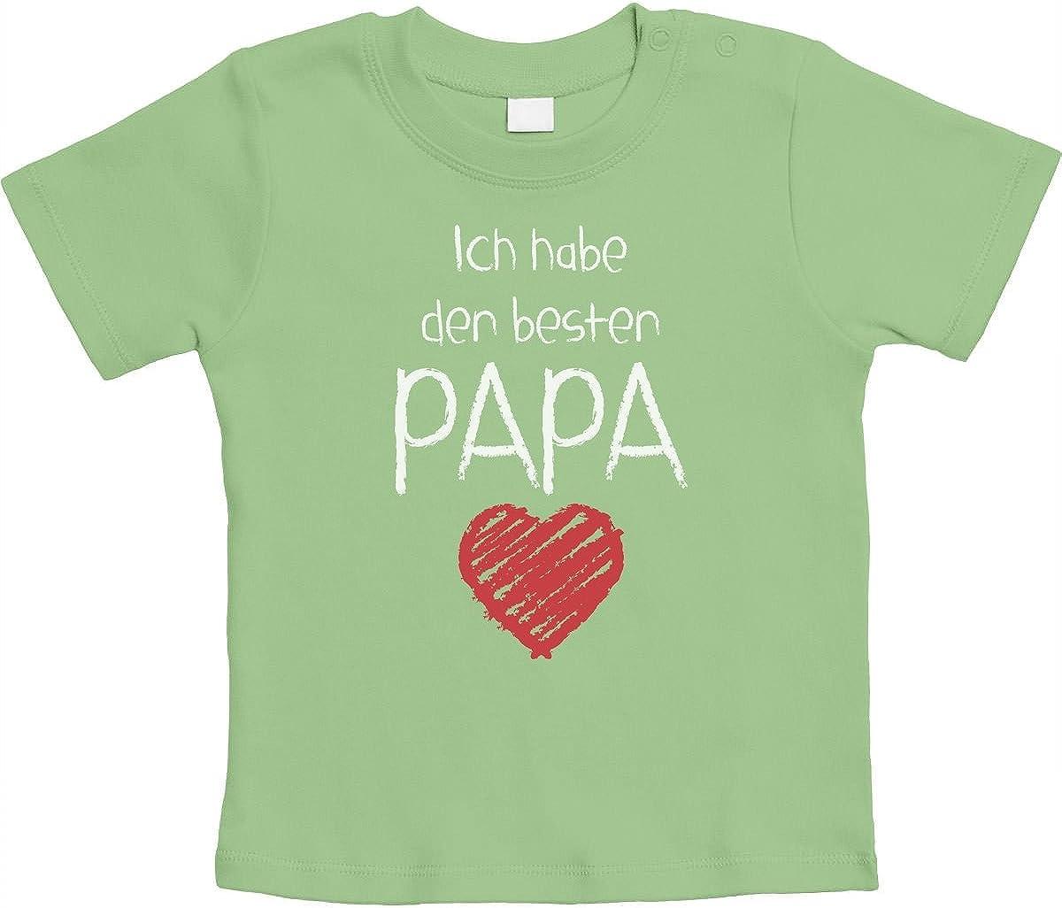 Vatertagpr/äsent Unisex Baby T-Shirt Gr 66-93 Ich Habe den besten Papa