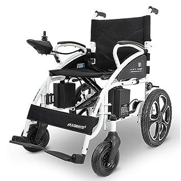 MSK Silla de Ruedas eléctrica Plegable Ligero-hasta 13 Millas de Rango de sillas de Ruedas de energía eléctrica (Negro): Amazon.es: Deportes y aire libre