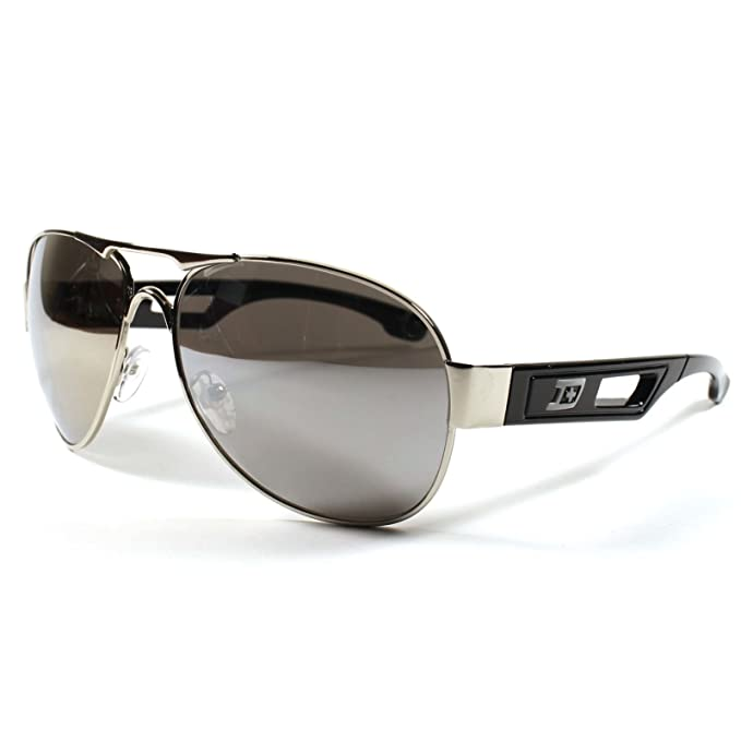 24a0aeda7 Image Unavailable. Image not available for. Color: Designer Modern Mirrored  Lens Sexy Mens Womens Air Force Style Silver Sunglasses