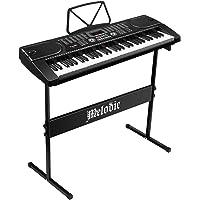 Melodic 61 Key Electronic Piano Keyboard Portable Digital Keyboard LED Display 255 Timbres & Rhythms, MIC Jack,Audio…