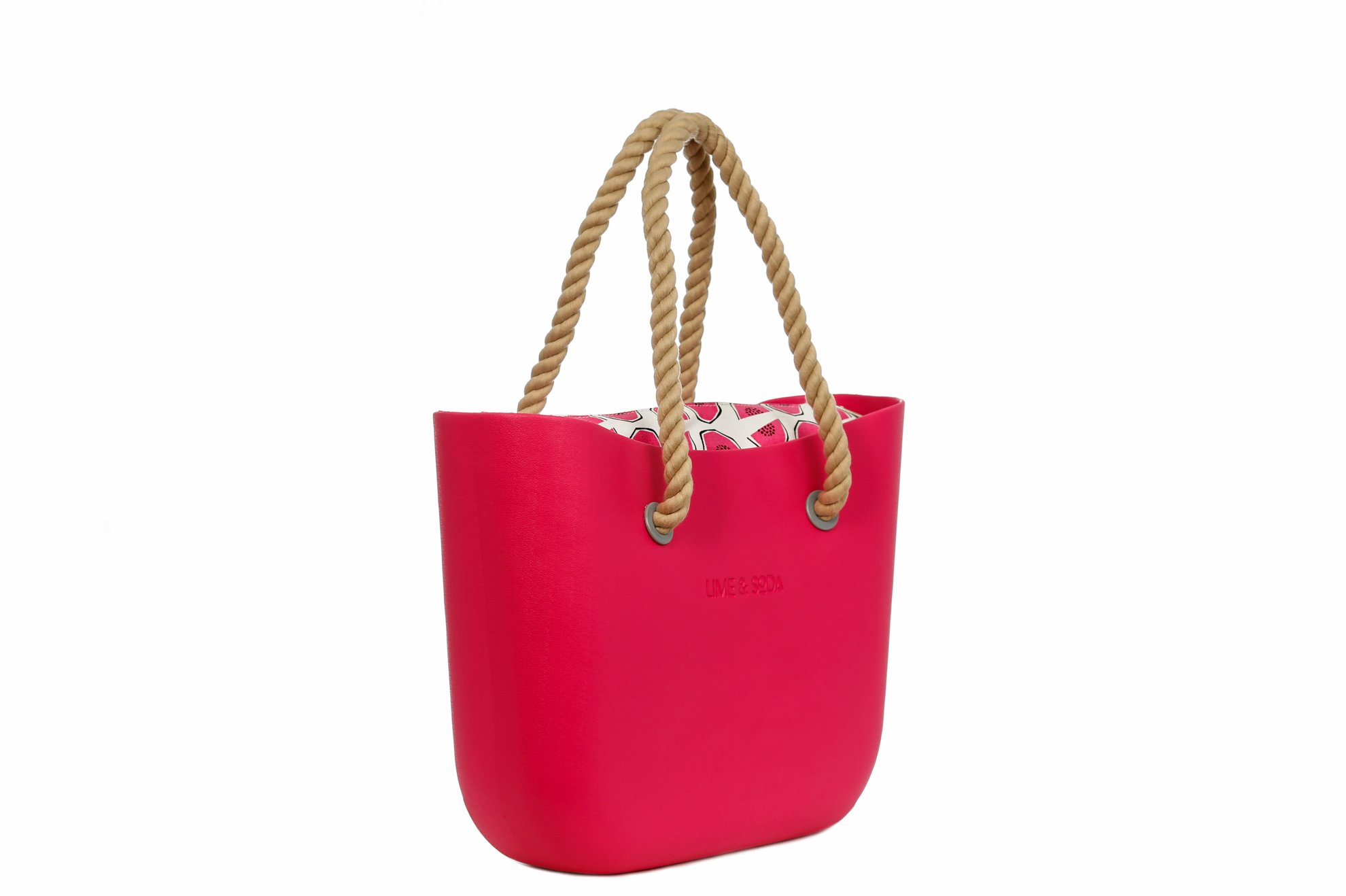 Lime & Soda Women's Fashion Eva Handbag - Rope Handles - Mix & Match to find your style (Fuchsia Special)