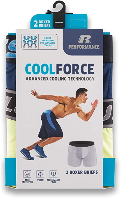Russell Performance Coolforce Boxer Briefs 2 Pack At Amazon Men S Clothing Store