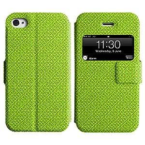 LEOCASE modelo lindo Funda Carcasa Cuero Tapa Case Para Apple iPhone 4 / 4S No.1004241