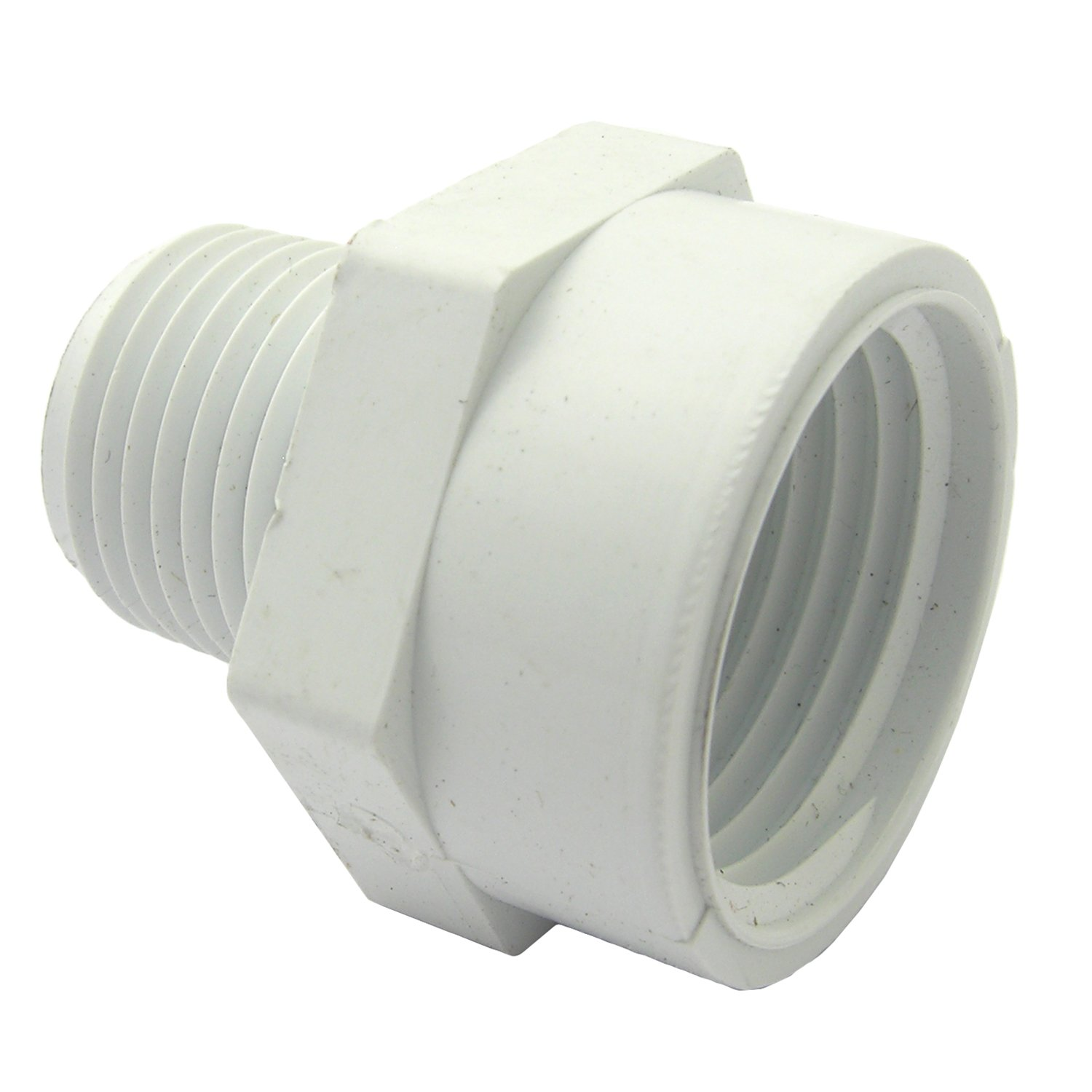 LASCO 15-1635 PVC Hose Adapter with 3/4-Inch Female Hose Thread and 1/2-Inch Male Pipe Thread