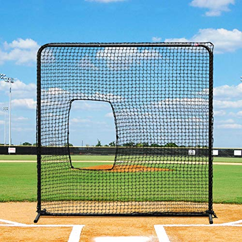 - Fortress Softball Screen - Pitching Net & Frame to Perfect Your Batting Technique [Net World Sports]
