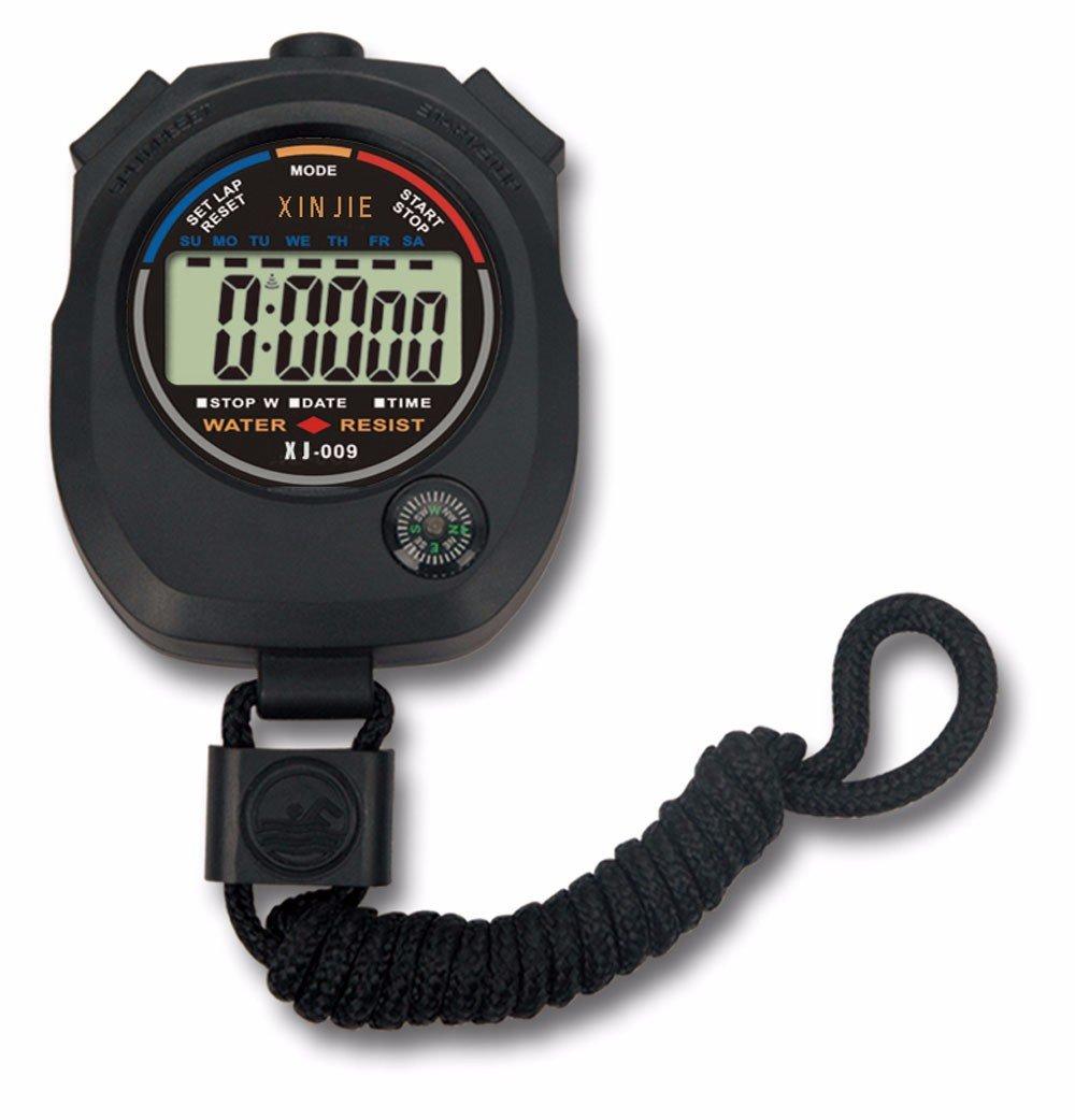 WULEI ⏱⏱⏱Cronómetro Digital a Prueba de Agua LCD Cronómetro Cronómetro Temporizador Deportivo Alarma