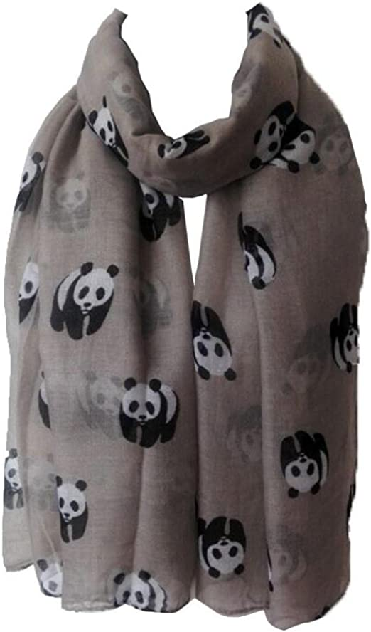 Panda Bear Animal Scarf Womens Wrap Shawl Scarves