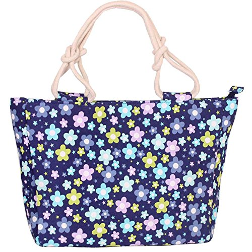 Canvas G amp;DX Handbag Hobo Tote Bag Gift Camping Style Grocery HM Shopping Multicolored Floral Dating Bag Picnic Women's Large dtqqU